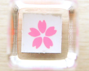 Cherry Blossom Rubber Stamp Sakura Mini Mini Size