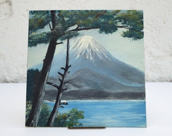 Small Mount Fuji Landscape Painting - Painting by Fred H. Koch - Vintage Painting