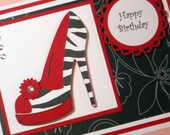 Birthday Card, Mother's Day Card, Get Well Card, Thinking of You Card, Greeting Card, High Heel Card,  Personalized Card