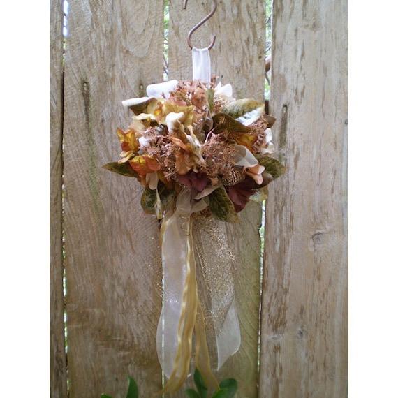 wedding kissing ball bouquet floral arrangement home decor faerie sphere pomander hanging flower decoration