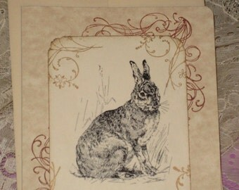 Happy Birthday Greeting Card with Rabbit