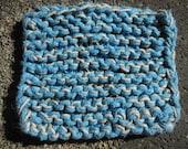 turquoise cotton dish sponge