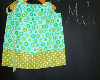 SAMPLE - Pillowcase Dress or Top - Dots - Will fit Size 6-12 month up to 2T - by Boutique Mia and More - Ready To Ship
