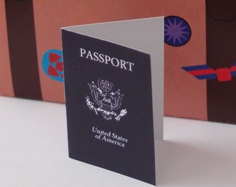 Passport Book World Travel Gift Tags Printable Color Digital PDF (most countries available by request)
