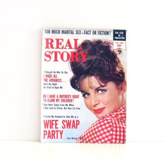 Vintage Magazine 1960s Pulp Womens Magazine Real Story