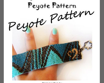 Pyramid Lovers Peyote Pattern Bracelet - For Personal Use Only PDF Tutorial