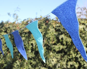 24     blue and turquoise flags