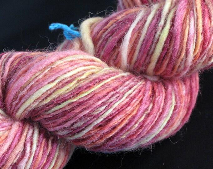 Handspun Sheltand Wool in Sunset