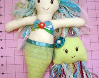 Mermaid Doll Tutorial, Sewing Pattern