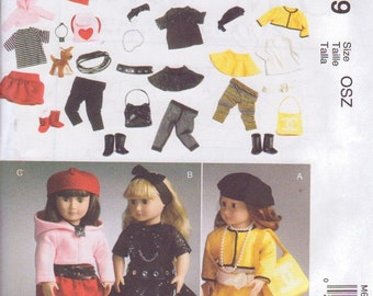 "McCalls 6669 Pattern for 18"" Doll Clothes Boots Top, Hat Belt Pants New and Uncut"