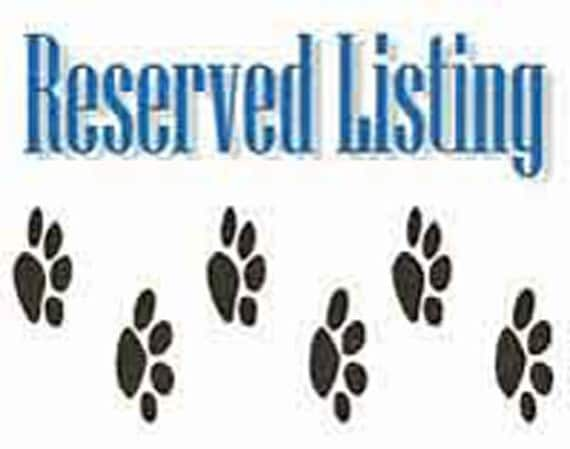 RESERVED LISTING FOR FiFiRuffles