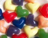 Rainbow Heart Soap Set - Rainbow Soaps, Watermelon Scent, Colorful, Kids Bath Soap, Party Favors, Bright soap, Love, Hearts
