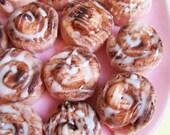 Mini Cinnamon Roll Soaps - Cinnamon Bun Soap, Food Soap, Baby Shower Soap Favors, Soap Favors, Dessert Soap, Bun in the Oven Soap, Fake Food