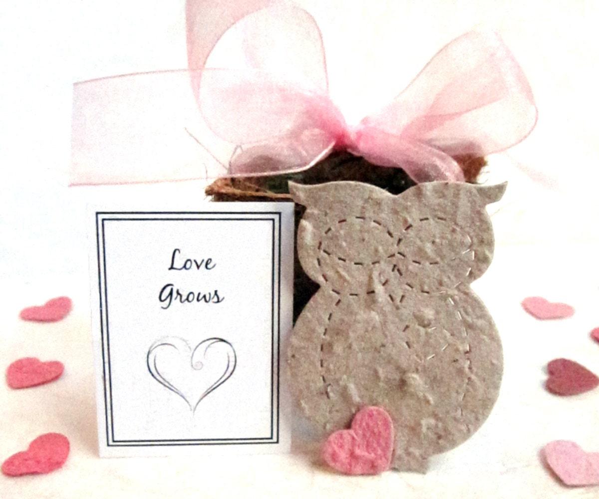 20 seed owl wedding favors flower seed paper owls bridal. Black Bedroom Furniture Sets. Home Design Ideas
