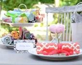 Handmade Organic Hostess Wedding Gift Set of 12 Travel Jewelry Roll w/Free Shipping Hand-Printed Organic Fabrics