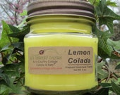 LEMON COLADA CANDLE - Strong - Pineapple Coconut Vanilla Lime Orange