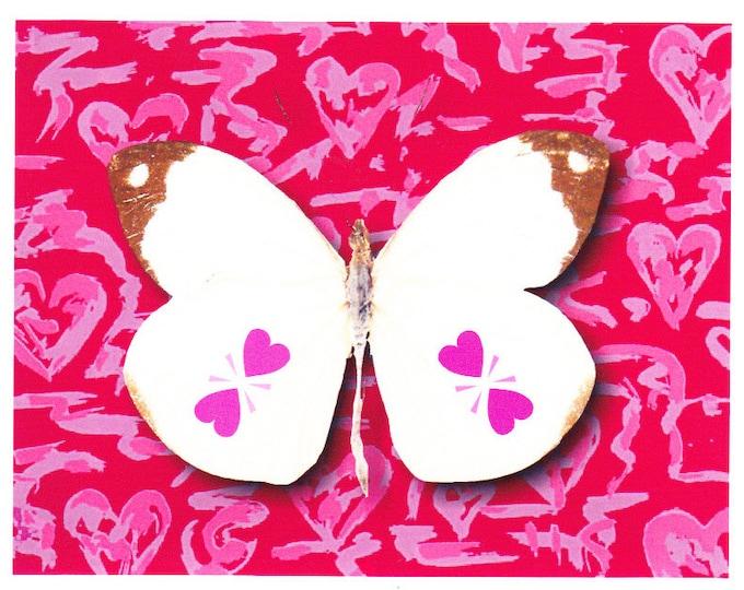 Heart Wings Butterfly card