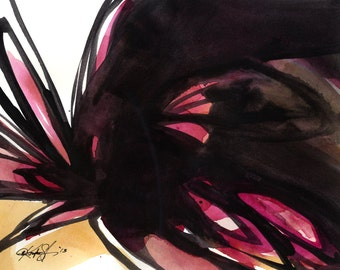 Organic Embrace... Series No.1... Original Abstract Painting by Kathy Morton Stanion EBSQ