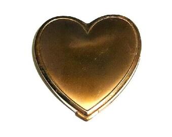 Vintage Heart Shaped Powder Compact Superb U.S.A.