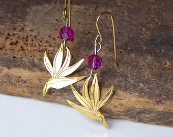 REDUCED Lam Earrings, Vintage Lam Bird Earrings, Gold Plated Birds, Vintage Earrings, Etsy, Etsy Jewelry,Vintage Bird Earrings