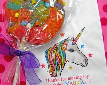 Unicorn Birthday Party, Unicorn Favor bags, Unicorn candy bags, Candy Buffet bags, Unicorn favors, Birthday party, Sweets, Treat bags