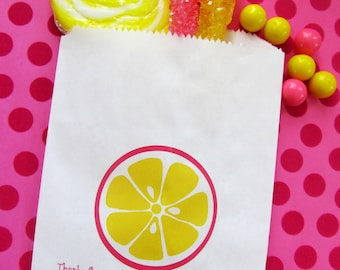 Pink Lemonade, Lemonade Favor bags, Lemonade birthday party,Candy Bags, bags, Favor bags, Candy Buffet, Birthday party, Sweets, Treats