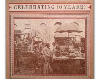 2013 FARMERS MARKET Letterpress Poster - vintage photo truck farmers