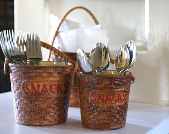Ceramic Snack Baskets Vintage
