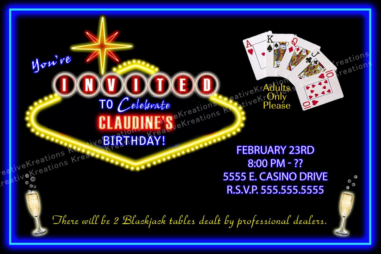 Casino personalized invitations : Play free casino slots games ...
