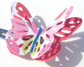 3d sparkle butterfly hand made hair clip