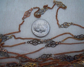 Vintage Filigree Link Chain