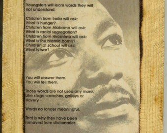 Martin Luther King - Wooden Plaque