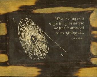 John Muir - Quote - Wooden Plaque