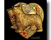 Scottie Dog Jewelry Scotty Brooch Pin. Handpainted for Scottish Terrier Lovers. Scottie Dog Jewelry Gift by Cloud K9