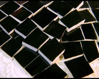 China Mosaic Tiles - SOLID BLaCK - Broken Plate Tiles