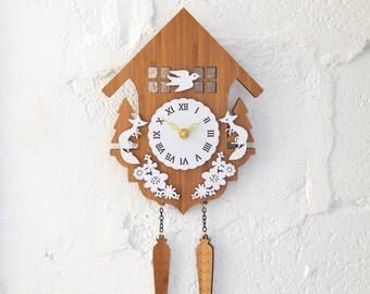 Cuckoo Clock, Modern Wall Clock, Style B