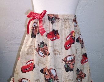 My Carrie Custom A-Line Skirt made with Disnay Cars Fabric