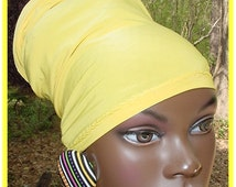 Headband-Head Tube-Dreadlocks-Yellow-Locs-Natural Hair-Virtuous Creations