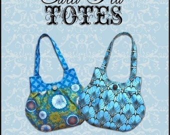 CLASSY CURVY ebook PDF Handbag Sewing Pattern / Sweet Pea Totes