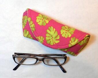Eyeglass Case or Sunglass Case - Pink Limeade