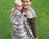 Baby Ring Sling Carrier - 100% Wool Jacquard -soft and supportive - DVD included