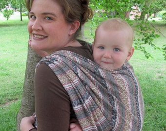 Woven Baby Wrap - 100% Wool Jacquard - soft, elegant, and comfortable - DVD included- Size 4, 5, 6, 7, 8