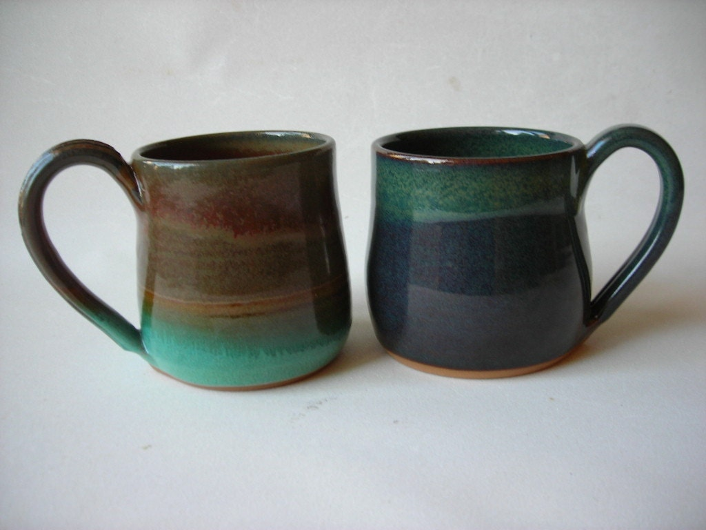 coffee mugs unique set of 2