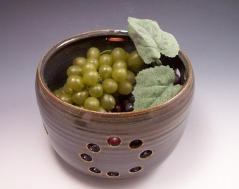Pottery Berry Basket / Colander/Berry Bowl