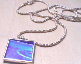 6pcs 25mm silvery white Pewter blank Pendant Tray bezel square
