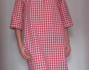 Holiday Sale Anais Valentina Day Dress- Red and Navy Gingham