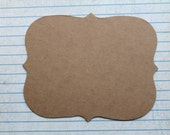 3 Bare chipboard journaling spot Rectangle Bracket  Diecuts  4 1/4 inches x 3 3/8 inches