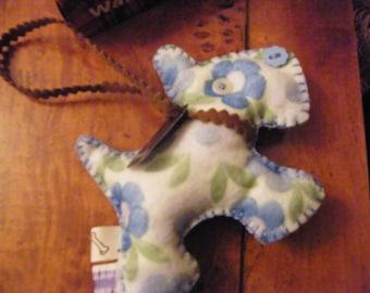 Vintage looking Dog Blue Adorable Scottie Charm Ornament