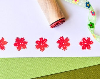 Eyelet Flower Rubber Stamp