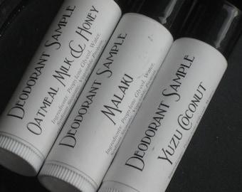 Vegan Deodorant Samples - 3pc